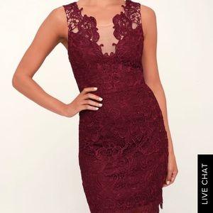 NWOT Lulu's maroon short dress